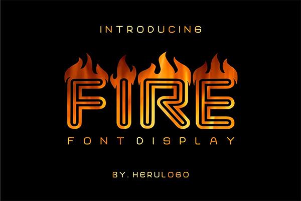 Fire Display Font