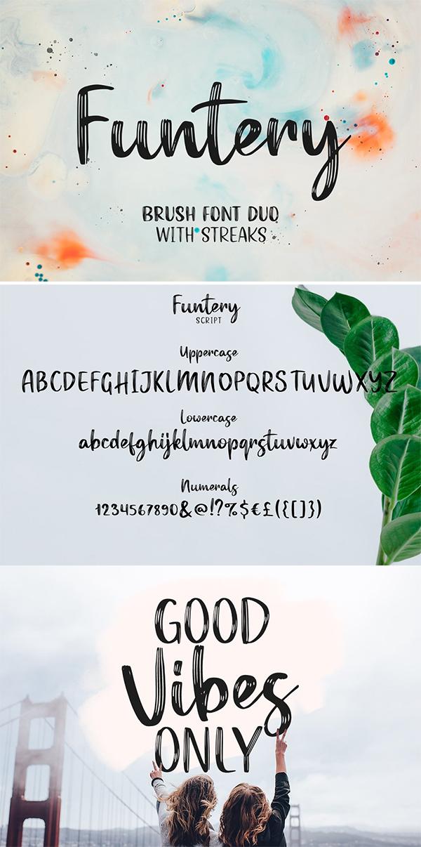 Funtery Brush Font