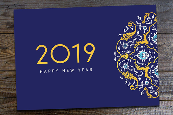 2019 New Year Greeting Card