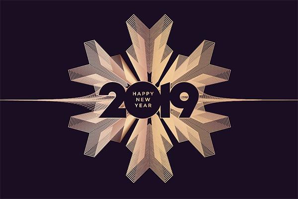 Creative New Year Greeting Card