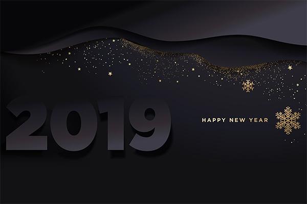 Dark Happy New Year Wallpaper
