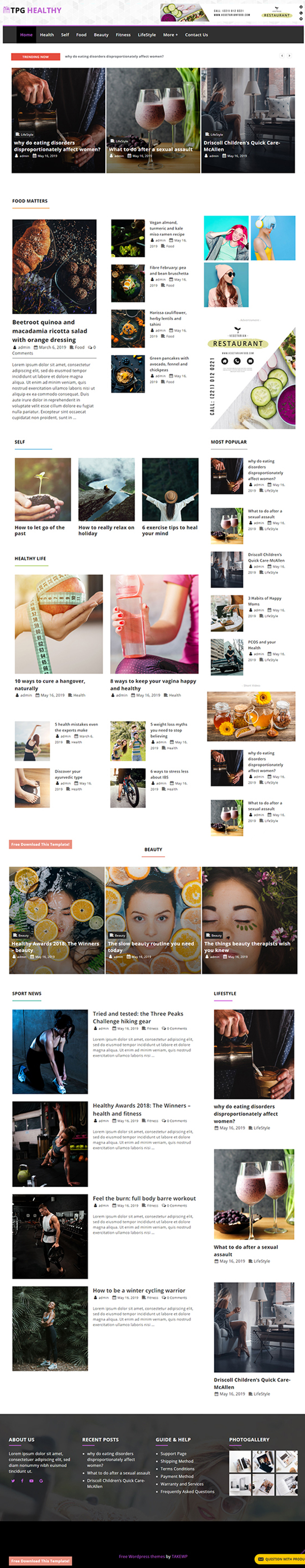 TPG Healthy Magazine WordPress