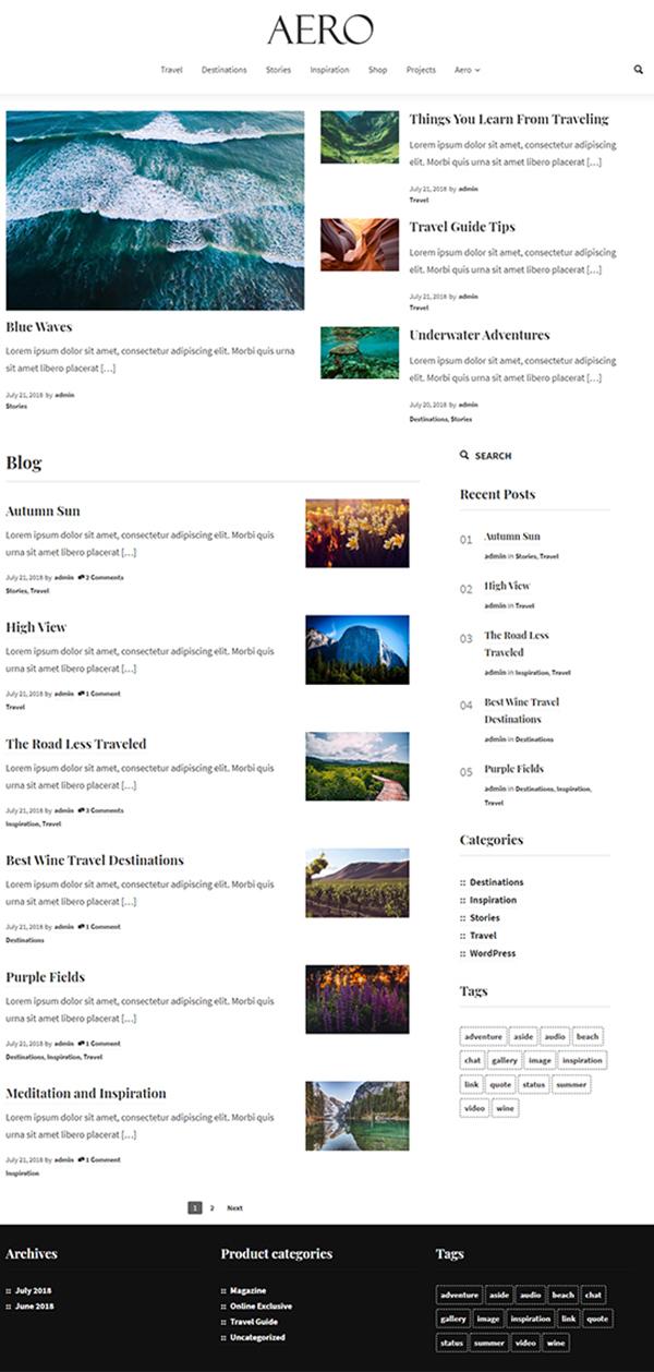 Aero - Magazine WordPress Theme