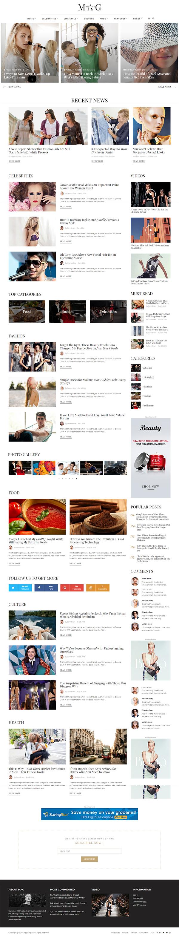 MAG - Blog & Fashion Magazine