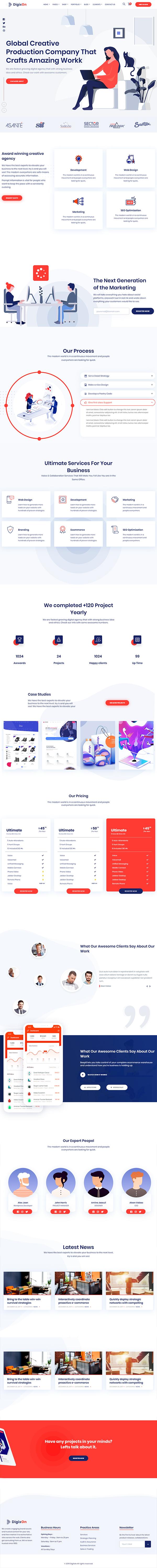 Digixon - Digital Marketing Strategy Consulting WP Theme