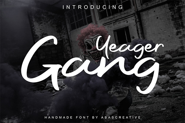 Yeager Gang Free Font