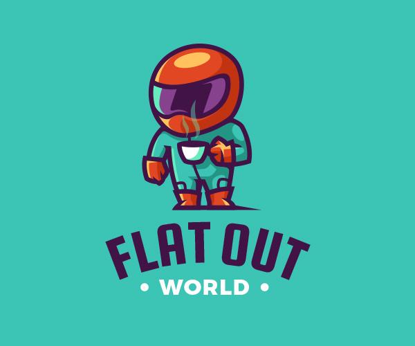 Flat Out Branding Logo