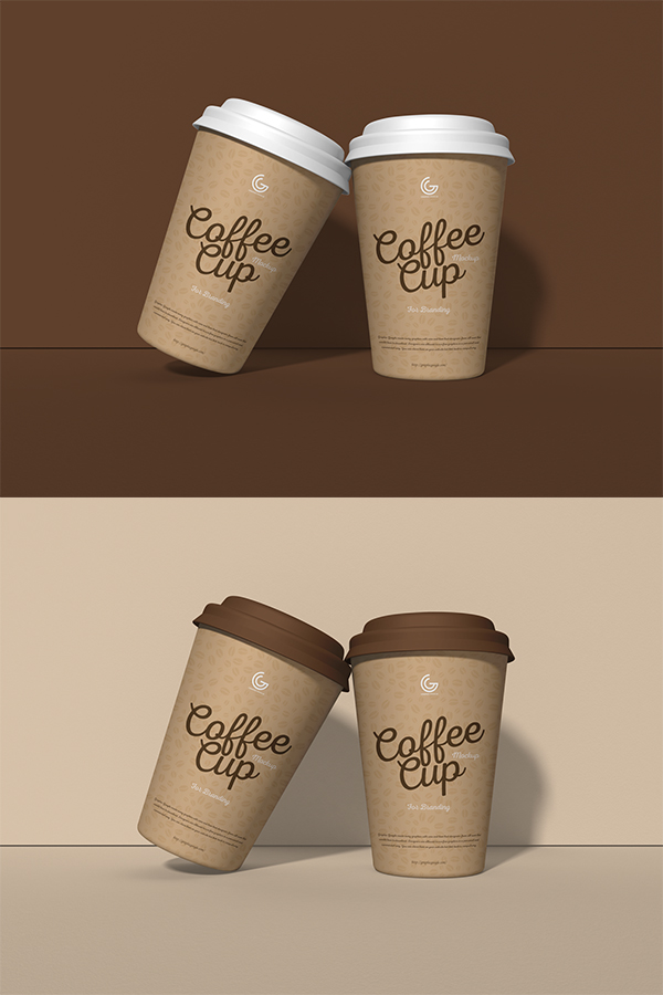 Free PSD Coffee Cup Mockup For Branding
