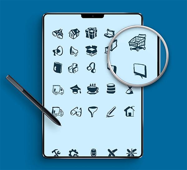 Free Hand Draw Icons