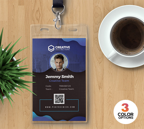 Beautiful Modern Office Identity Card PSD