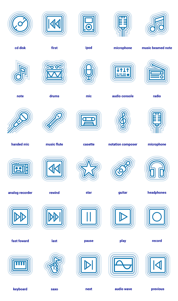 Free Wave Icon Pack