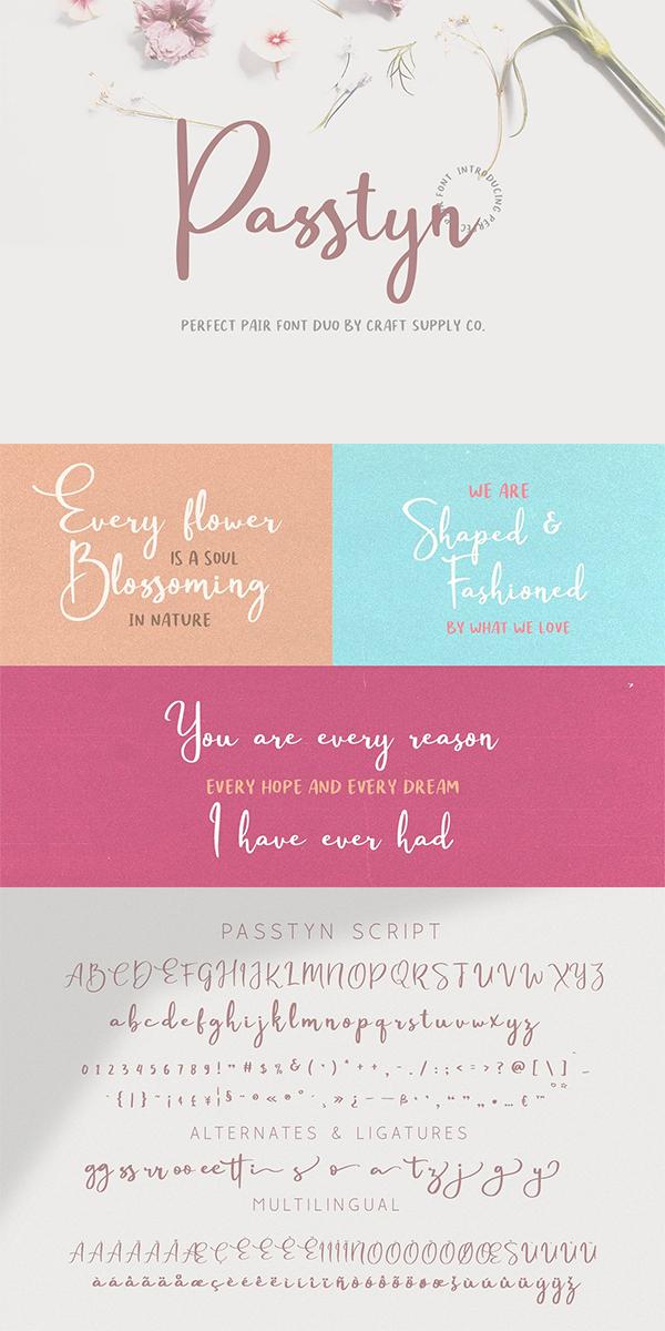 Passtyn – Handwritten Font Design