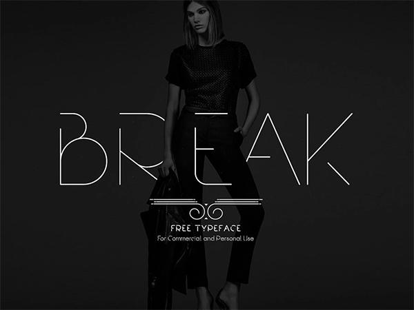 Break Fashion Free Font