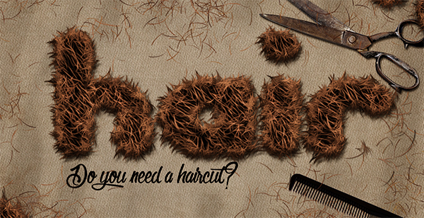 Create Hair Text Effect In Adobe Photoshop
