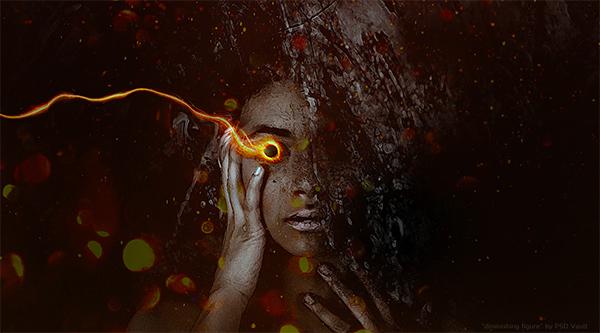 "The Creation of ""Diminishing Figure"" Digital Art in Photoshop"