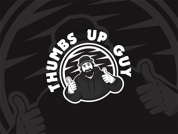 Thumbs Up Beard Guy Design
