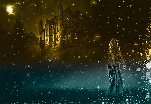 Magic Sparkle Fairy Tale Night Photoshop Tutorial