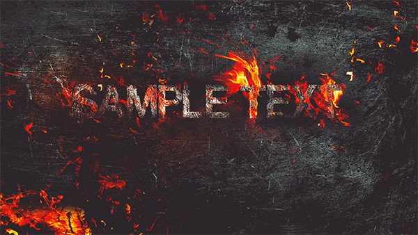 Create Fire Burning on Metal Text Effect in Photoshop