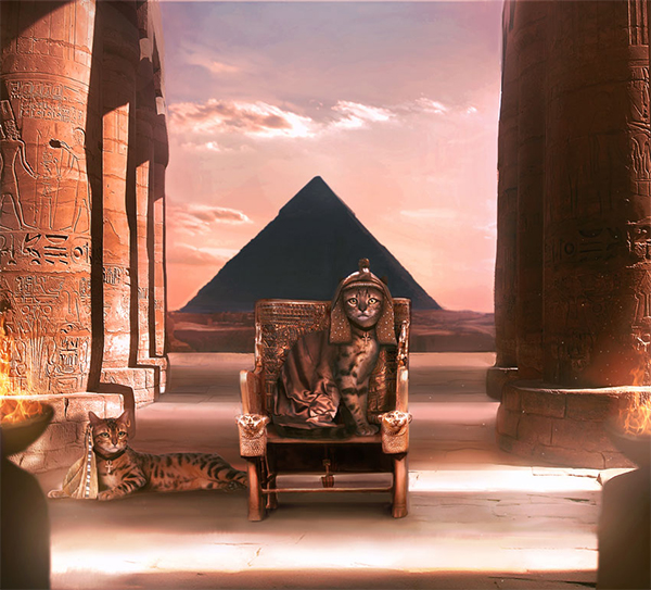 How to Create an Ancient-Egypt-Inspired Cat Photo Manipulation in Photoshop