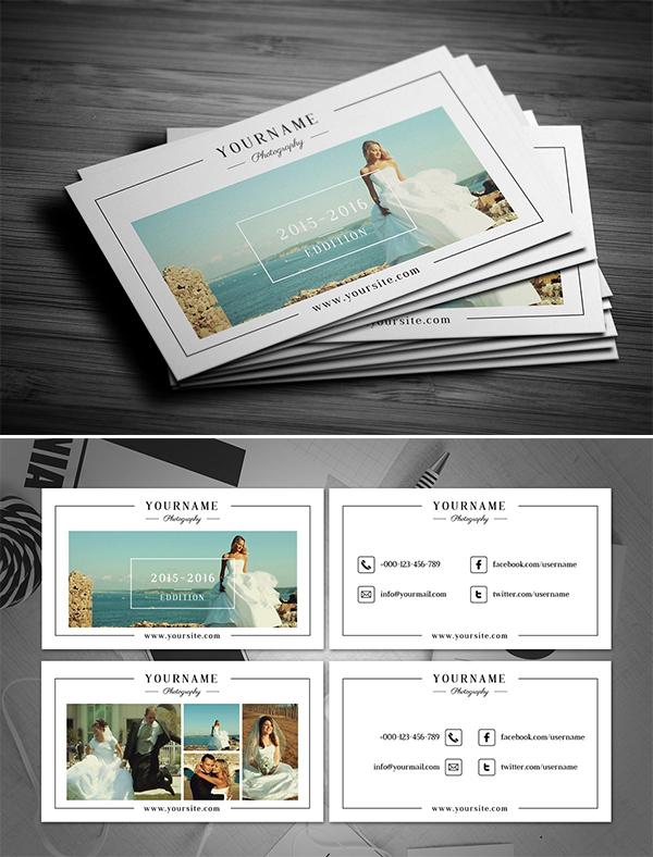Creative Minimal Photographer Business Card
