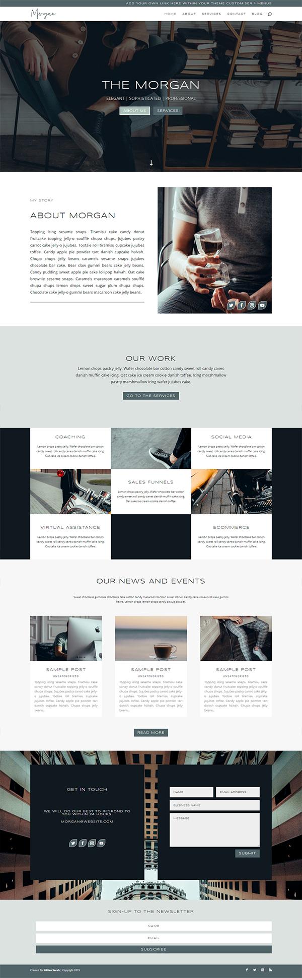 The Morgan - WordPress Divi Theme
