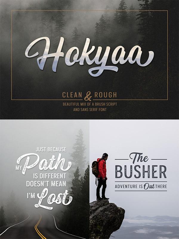 Hokyaa Rougf Font Design