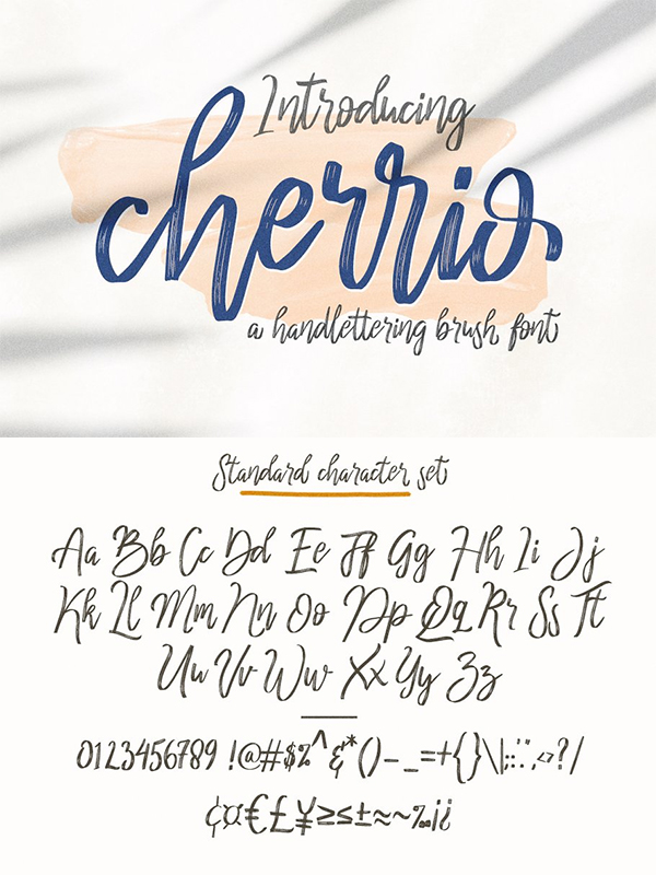 Cherrio Brush Font Design
