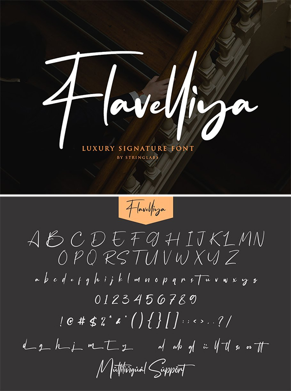 Flavellya – Luxury Signature Font Design