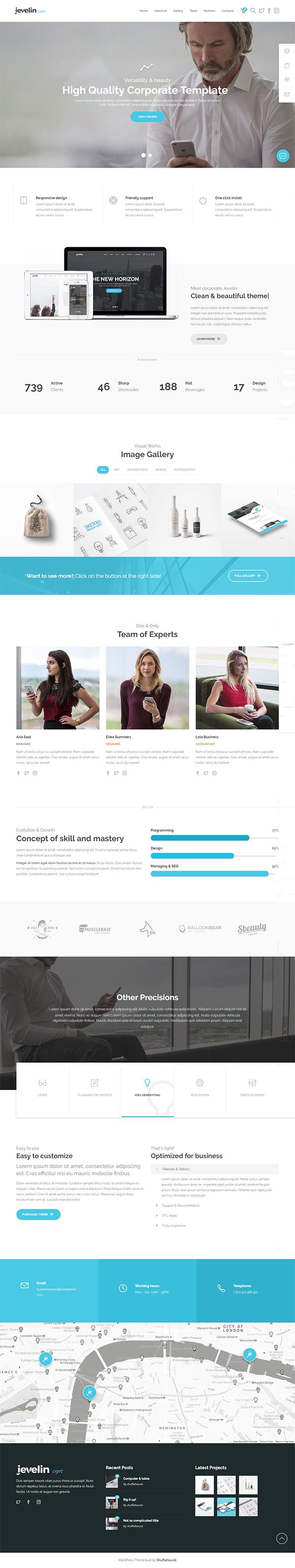 Jevelin Multi-Purpose Premium Responsive WordPress Theme