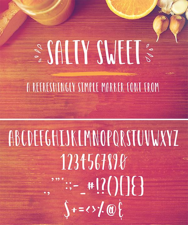 Free Download Elegant Salty Sweet Marker Font For Designers