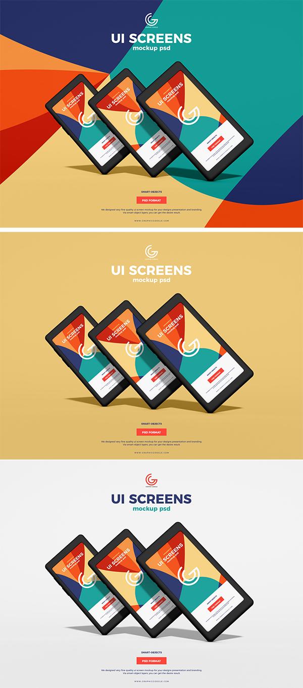 Free UI Screens Mockup PSD