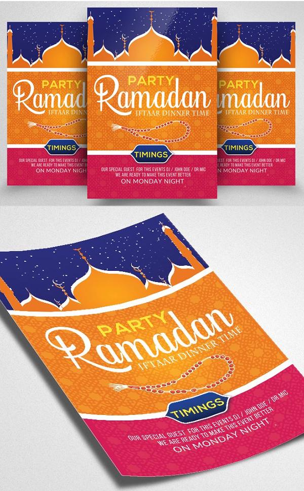 Ramadan Iftar Party Flyer Template