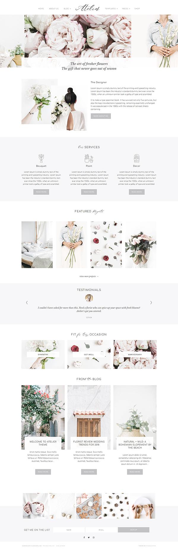 Atelier WordPress Theme