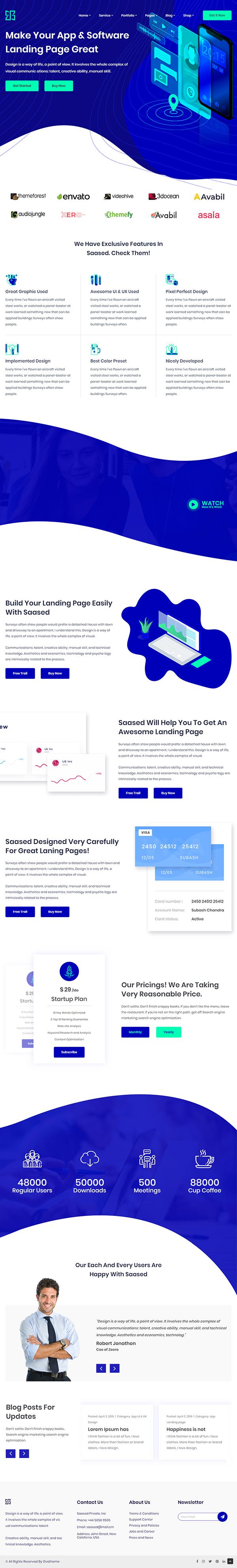 SEO & Digital Marketing Theme Saased
