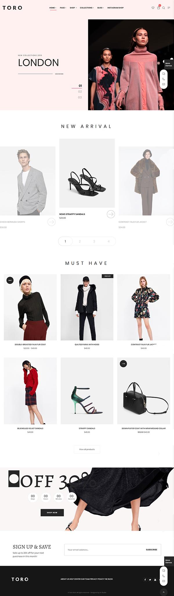 Toro - Clean, Minimal WooCommerce Theme