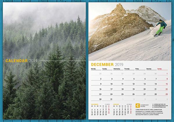 Creative Wall Calendar 2019
