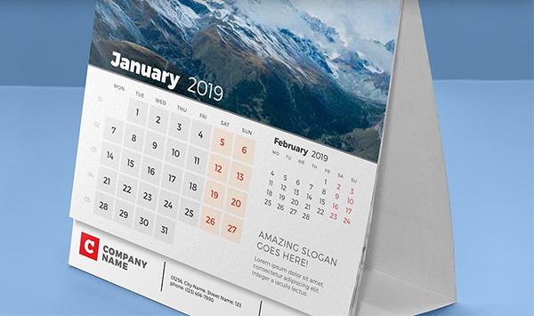 Awesome Desk Calendar 2019