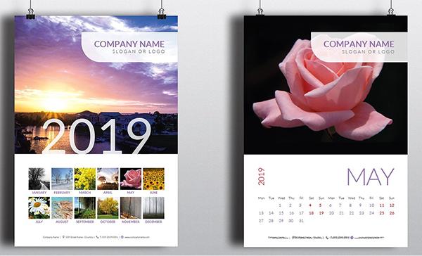 Awesome & Minimal Calendar 2019