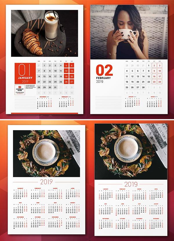 Wall Calendar 2019 + Calendar Poster