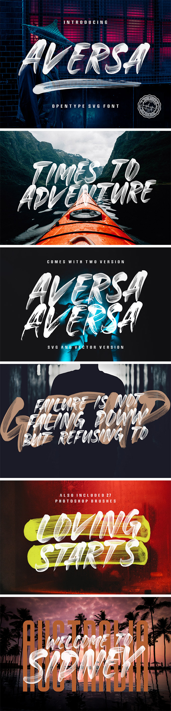 Aversa Brush Free Font
