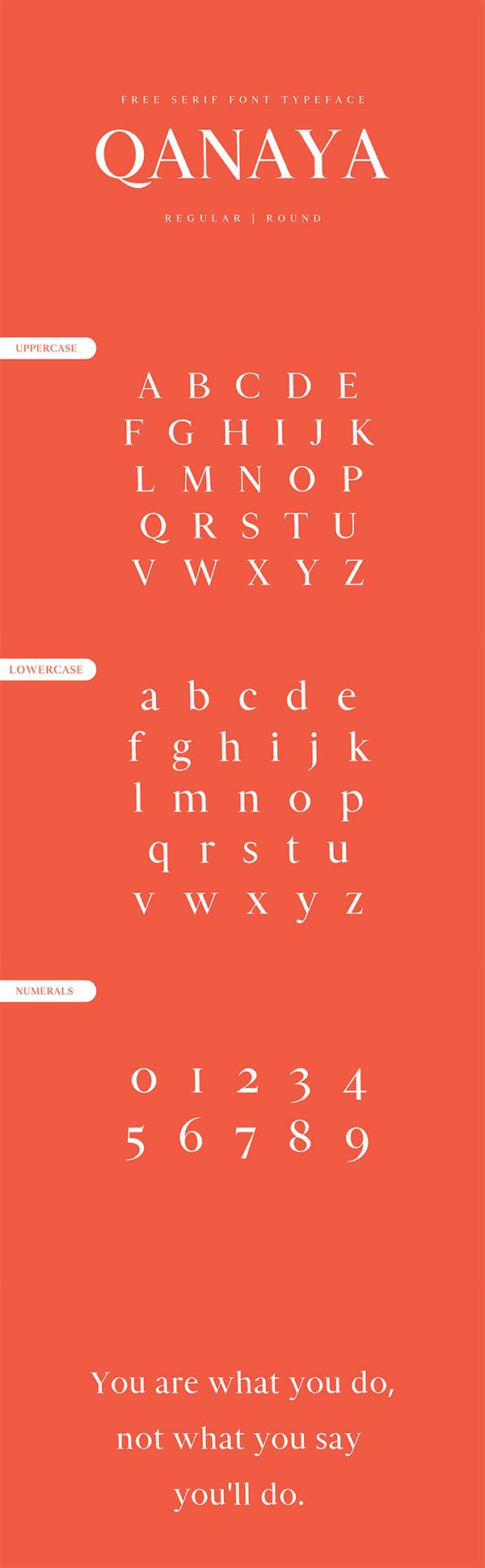 Qanaya Serif Free Font