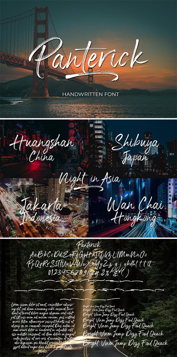 Panterick // Handwritten Font