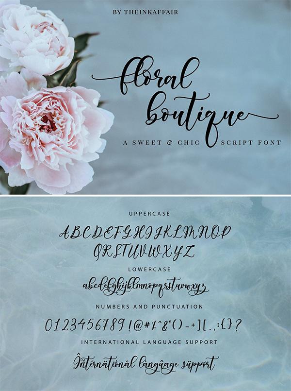 Floral Boutique Calligraphy Font