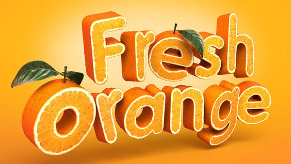 Create a 3D, Fruit-Textured, Text Effect