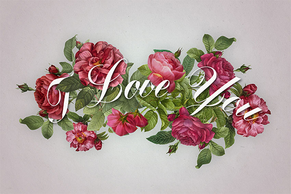 How to Create a Romantic Rose Text Effect in Adobe Photoshop