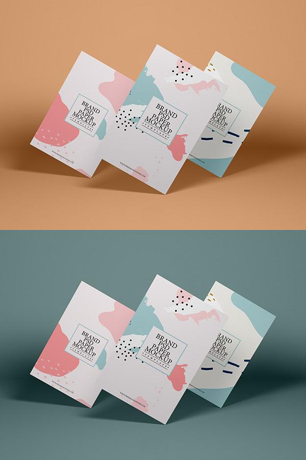 Free Brand PSD Paper Mockup Template