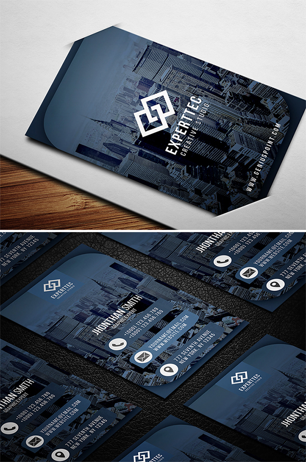 Elegant & Stylish Business Card PSD Template Free Download
