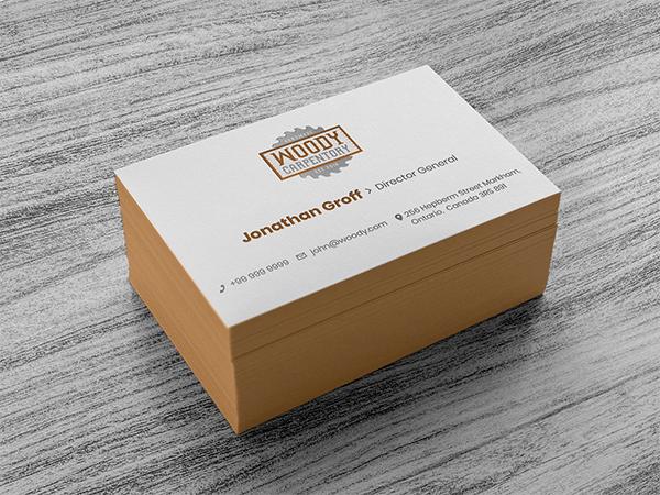 Business Card Design Template & Mockup PSD
