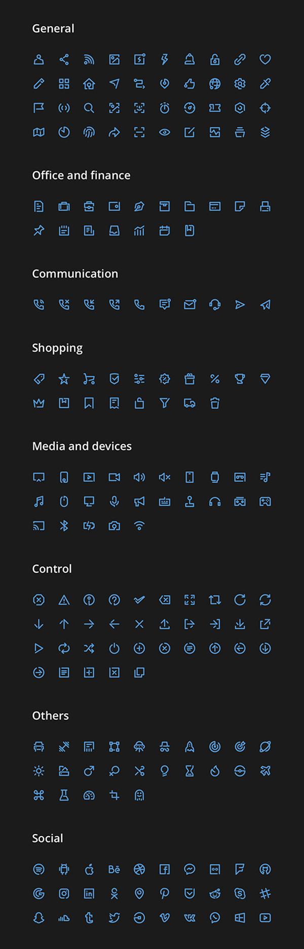 Unicons Icons Set