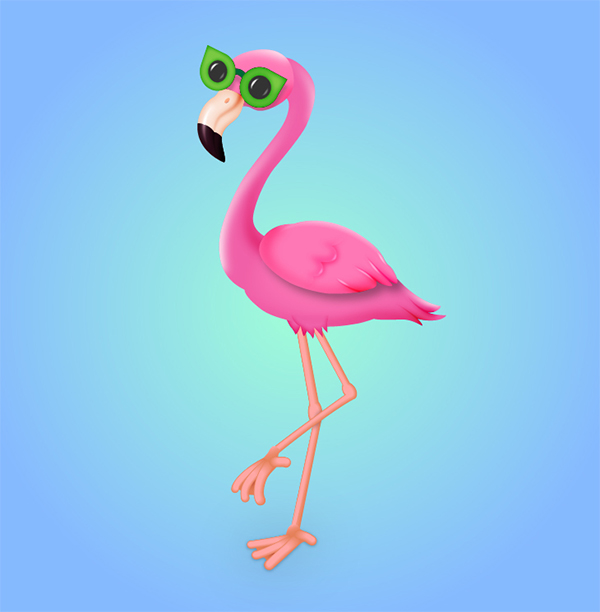 How to Draw a Flamingo Character in Adobe Illustrator